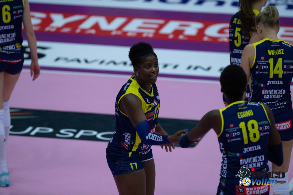 "IMOCO VOLLEY ANCORA ""ON THE ROAD"": DOMENICA A JESI VS FILOTTRANO – C'E' ANCHE CHIAKA OGBOGU, HILL INFLUENZATA"