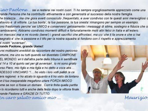 CIAO PAOLONE: IL RICORDO DI MAURIZIO MASCHIO