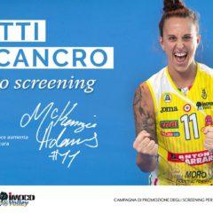 L'ULSS 2 GIOCA D'ANTICIPO CON IMOCO VOLLEY, RIPARTE LA CAMPAGNA PRO SCREENING