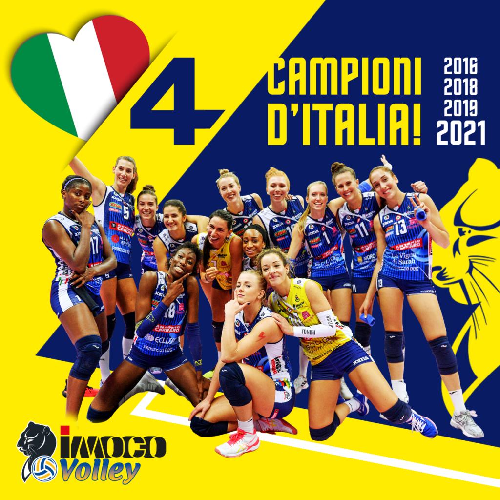 L'IMOCO E' CAMPIONE D'ITALIA! PANTERE TRICOLORI, QUARTO SCUDETTO!!