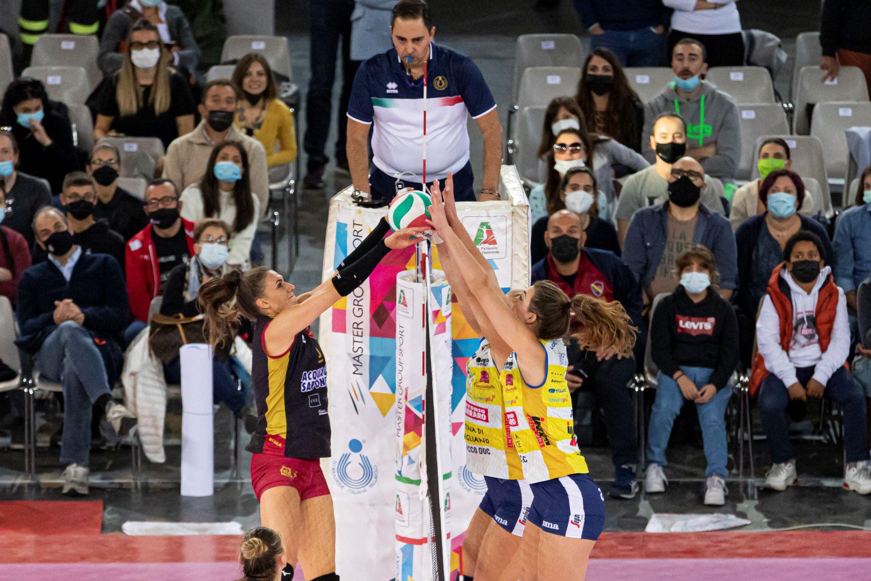 Acqua&Sapone Roma Volley Club vs Prosecco DOC Imoco Volley